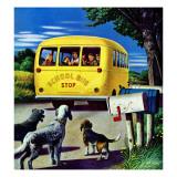 """School Bus,"" September 2, 1944 Giclee Print by Stevan Dohanos"