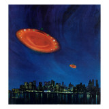 """Are Flying Saucers Real,"" December 17, 1966 Giclee Print by Paul Calle"