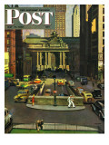 """Pershing Square,"" Saturday Evening Post Cover, May 19, 1945 Giclee Print by John Falter"