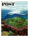 """Appalachian Rhododendrons,"" Saturday Evening Post Cover, May 27, 1961 Giclee Print by John Clymer"