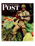 """""""Jungle Commando,"""" Saturday Evening Post Cover, October 24, 1942 Giclee Print by Mead Schaeffer"""