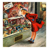 """Shopping for Mother's Day,"" May 10, 1947 Giclee Print by Constantin Alajalov"