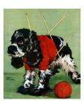 """Butch and Knitted Sweater,"" September 28, 1946 Giclee Print by Albert Staehle"