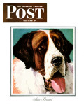"""St. Bernard,"" Saturday Evening Post Cover, March 6, 1943 Giclee Print by Rutherford Boyd"