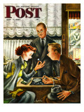 """Engagement Ring,"" Saturday Evening Post Cover, May 7, 1949 Giclee Print by Constantin Alajalov"