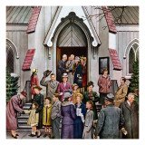 """After Church,"" April 16, 1949 Giclee Print by Stevan Dohanos"