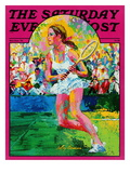 """Girl tennis player,"" Saturday Evening Post Cover, May/June 1976 Giclee Print by LeRoy Neiman"
