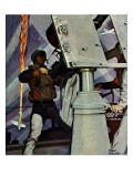 """Anti-Aircraft,"" February 5, 1944 Giclee Print by Mead Schaeffer"