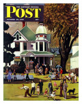 """Family Reunion,"" Saturday Evening Post Cover, October 20, 1945 Giclee Print by John Falter"