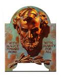 """Re -print of ""Bronze Lincoln"","" February 1, 1976 Giclee Print by J.C. Leyendecker"