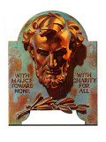 """Re -print of ""Bronze Lincoln"","" February 1, 1976 Giclee Print by Joseph Christian Leyendecker"