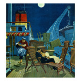 """Romantic Night on Deck,"" July 16, 1960 Giclee Print by James Williamson"