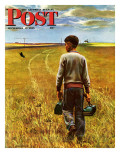 """Amber Waves of Grain,"" Saturday Evening Post Cover, September 8, 1945 Giclee Print by John Falter"