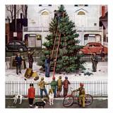 """""""Tree in Town Square,"""" December 4, 1948 Reproduction procédé giclée par Stevan Dohanos"""