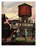 """""""Trainyard Flower Garden """" August 9  1947"""