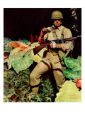 """Jungle Commando,"" October 24, 1942 Giclee Print by Mead Schaeffer"