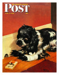 """Butch and Mousetrap,"" Saturday Evening Post Cover, June 8, 1946 Giclee Print by Albert Staehle"