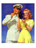 """Naval Officer & Redhead,"" February 8, 1941 Giclee Print by McClelland Barclay"
