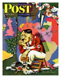 &quot;Hitler as Wallpaperer,&quot; Saturday Evening Post Cover, July 31, 1943 Giclee Print by Ken Stuart