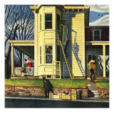 """Spring Cleaning,"" March 26, 1949 Giclee Print by John Falter"