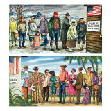 """First Vote in the New States,"" November 12, 1960 Giclee Print by Constantin Alajalov"