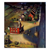 """School's Out,"" June 9, 1945 Giclee Print by John Falter"