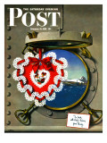 """Valentine's Day at Sea,"" Saturday Evening Post Cover, February 13, 1943 Giclee Print by John Atherton"