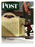 """Honoring the Dead,"" Saturday Evening Post Cover, December 4, 1943 Giclee Print by Stevan Dohanos"