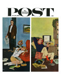 """Cool Record,"" Saturday Evening Post Cover, February 10, 1962 Giclee Print by Amos Sewell"