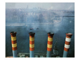 """Smoke Stacks,"" October 8, 1966 Giclee Print by John Launois"