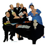 """The Fat Lady Sings,"" December 16, 1961 Giclee Print by Richard Sargent"