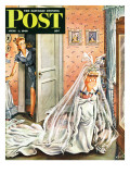 """Wedding Dress-Up,"" Saturday Evening Post Cover, June 1, 1946 Giclee Print by Constantin Alajalov"