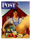 """Fall Bounty,"" Saturday Evening Post Cover, September 25, 1943 Giclee Print by John Atherton"