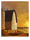 """Dairy Farm,"" July 19, 1947 Giclée-Druck von John Atherton"