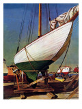 """Dry Dock,"" May 25, 1946 Giclee Print by John Atherton"