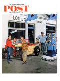 &quot;Gas Money,&quot; Saturday Evening Post Cover, March 26, 1960 Reproduction proc&#233;d&#233; gicl&#233;e par George Hughes