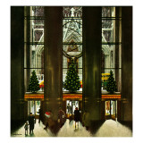 """St. Patrick's Cathedral at Christmas,"" December 3, 1949 Lámina giclée por John Falter"