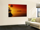 Sunset, Moorea, French Polynesia Wall Mural by Douglas Peebles