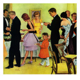 &quot;Hitting the Buffet,&quot; November 11, 1961 Reproduction proc&#233;d&#233; gicl&#233;e par George Hughes
