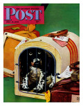 """Traveling Butch,"" Saturday Evening Post Cover, July 15, 1944 Giclee Print by Albert Staehle"