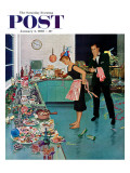 &quot;After Party Clean-up,&quot; Saturday Evening Post Cover, January 2, 1960 Reproduction proc&#233;d&#233; gicl&#233;e par Ben Kimberly Prins