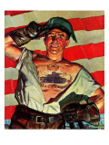 """Tank Tattoo,"" November 8, 1941 Giclee Print by Howard Scott"