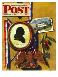 &quot;Commemorating George Washington,&quot; Saturday Evening Post Cover, February 24, 1945 Giclee Print by John Atherton