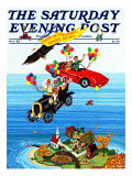 """Flying Cars,"" Saturday Evening Post Cover, November 1, 1983 Giclee Print by Ann Thompson"