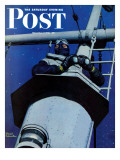 """""""Naval Lookout,"""" Saturday Evening Post Cover, November 7, 1942 Giclee Print by Mead Schaeffer"""
