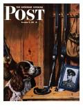 """Patient Dog,"" Saturday Evening Post Cover, December 12, 1942 Giclee Print by John Atherton"