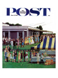 """Wedding Reception,"" Saturday Evening Post Cover, June 9, 1962 Giclee Print by Ben Kimberly Prins"