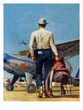 """Flying Cowboy,"" May 17, 1947 Reproduction procédé giclée par Mead Schaeffer"