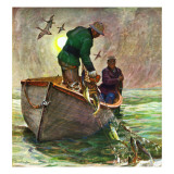"""Fishing with Nets,"" May 28, 1949 Giclee Print by Mead Schaeffer"