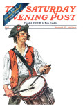 """Re-print of ""Colonial Drummer"","" Saturday Evening Post Cover, July/Aug 1976 Giclee Print by J.C. Leyendecker"